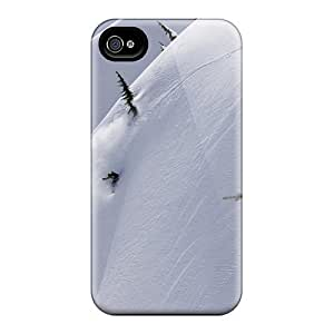 Iphone 4/4s Cases Covers Skin : Premium High Quality Slope Mountains Snowboard Cases