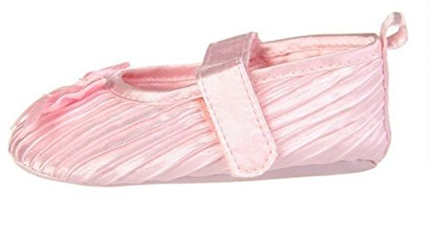 Zapatos de Niña Bebé Suave para bautizo Party cochecito de bebé correa de Velcro bombas blanco rosa negro 0–