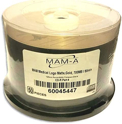 MAM-A Mitsui 医療グレード ロゴトップ ゴールド アーチバル 52X 80-分 CD-R 50パック