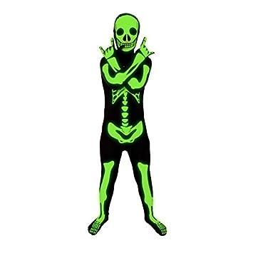 morphsuits glow in the dark skeleton kids halloween costume medium - Morphsuits Halloween Costumes