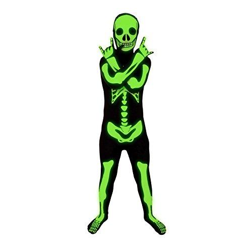 Glow-In-The-Dark Kids Halloween Costumes: Morphsuits Glow In The Dark Skeleton Kids Halloween Costume