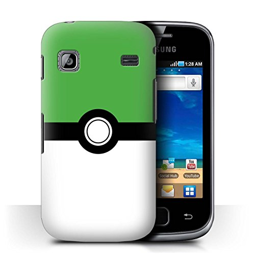 Cover for Samsung Galaxy Gio/S5660 / Green Design / Pokeball Anime Inspired Collection (Gio Collection)