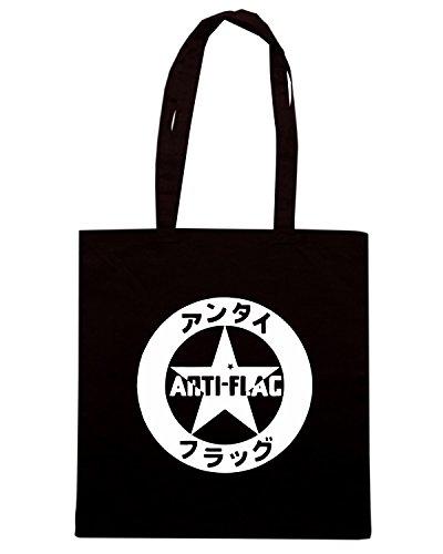 T-Shirtshock - Bolsa para la compra FUN0603 anti flag 001 band vinyl decal sticker 45810 Negro