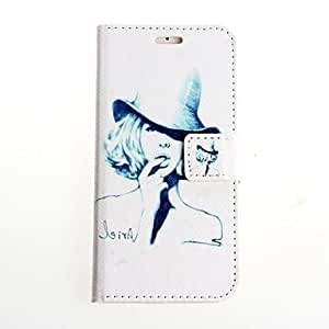 Hat Pattern PU Leather Full Body Cover for iPhone 6