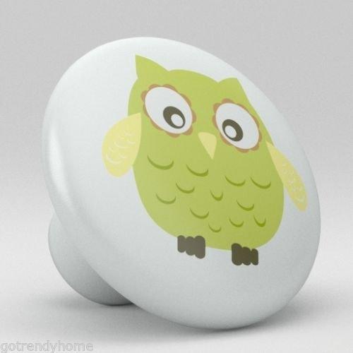 Cute Green Retro Ceramic Knobs Nursery Retro Pulls Kitchen Drawer Dresser 1079 by gotrendyhome