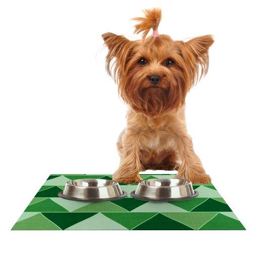 Kess InHouse Catherine McDonald Emerald City  Feeding Mat for Pet Bowl, 18 by 13-Inch