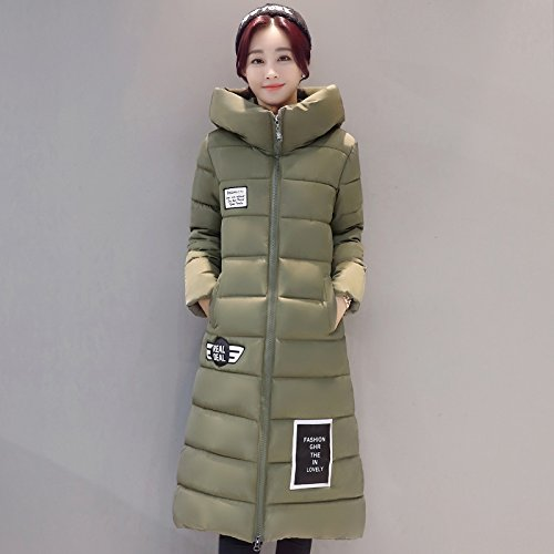 Xuanku Women Ãþòâ Female In The Medium To Long Term) Thick Large Cotton Coat Jacket Female Robem,Grey