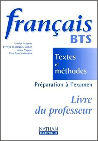 Frana Ais Bts Textes Et Ma C Thodes Livre Du Professeur