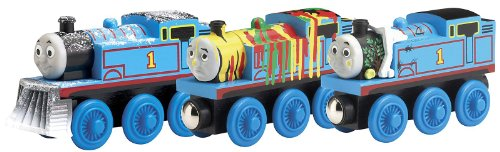 Adventures of Thomas 3pk – Thomas Wooden Railway Tank Train Engine – Brand New Loose