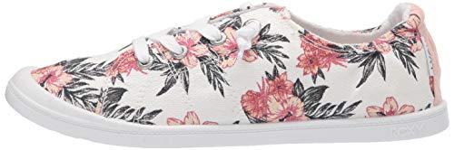 Roxy Women's Bayshore Slip on Shoe Sneaker, White Geo 20, 5.5 M US