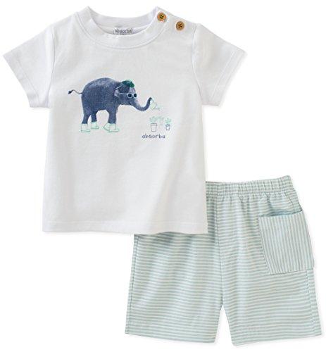 absorba Baby Short Set Boys, Green, 12M