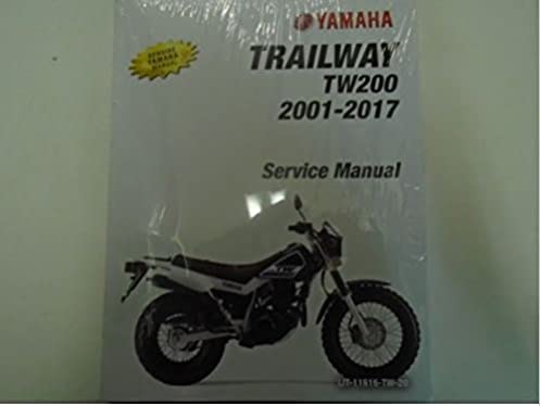 2013 2014 2015 2016 2017 yamaha tw200 trailway tw 200 owners service rh amazon com yamaha tw200 service manual free yamaha tw200 owners manual download