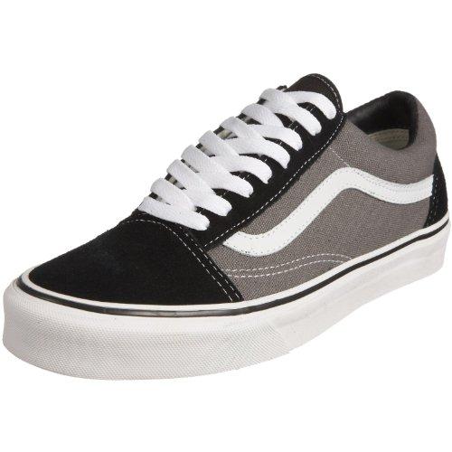 Vans Unisex Old Skool Classic Skate Shoes, Black/Pewter,  Men's 8, Women's 9.5 Medium