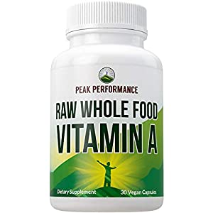 Gut Health Shop 41GTZTiojIL._SS300_ Raw Whole Food Vitamin A Capsules Supplement by Peak Performance. High Potency Vitamins with Organic Carrot Juice. Great…