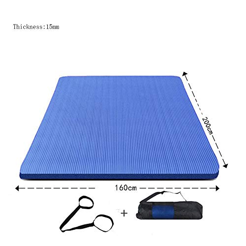 Mdck Dance Mats, 200cm Double Pad Yoga Mats Thickened 15mm Wide 160cm Yoga Mats