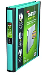 Staples Better 1-Inch D 3-Ring View Binder, Teal (13466-CC)