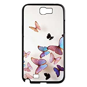 Beautiful butterfly DIY Case for Samsung Galaxy Note 2 N7100, Custom Beautiful butterfly Case hjbrhga1544