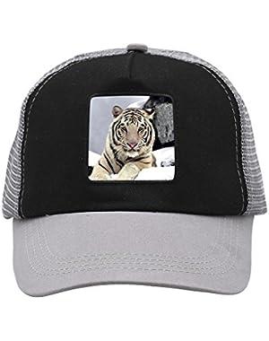Unisex Snow Tiger Adjustable Classic Hiphop Hat Baseball Cap Snapback Dad Hat