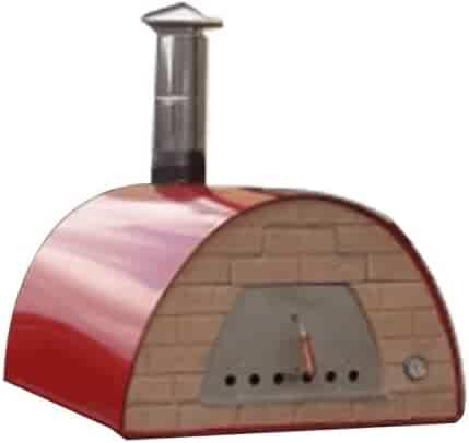 Authentic Pizza Ovens - Prime Large Wood Fire Oven Red …