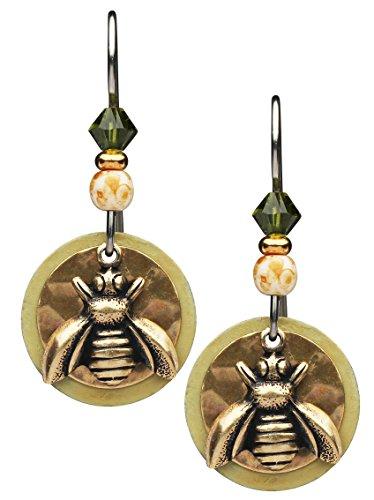 ee Earrings (Brass And Bead Earrings)