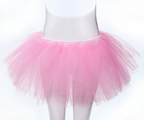 [Women's Full Ballet Tutu Adult Dance Costume 5 Layered Tulle Dress Up Skirt] (Ballroom Costume For Men)