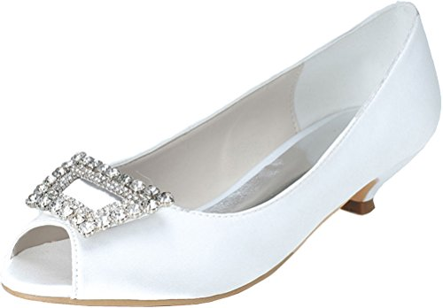 Ouvert Blanc Nice EU 5 Bout Blanc Femme Find 36 HESwq