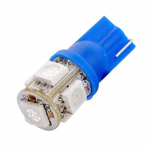 4x T10 5SMD 5050 LED Side Light 194 168 W5W Blue Color Wedge Tail Light 12V