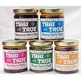 Thai and True Curry Paste - 5 Flavor Sampler