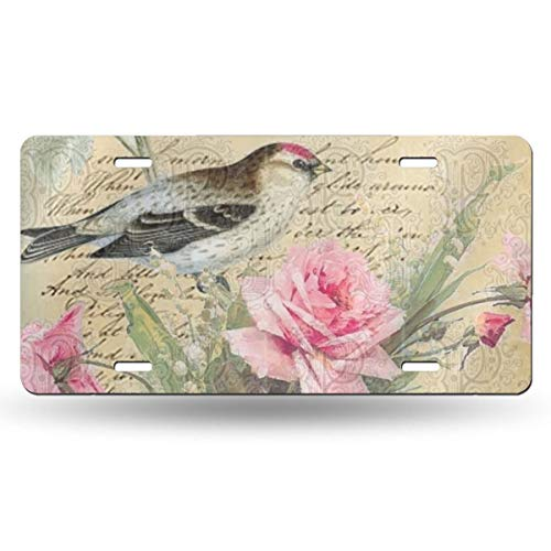 Shams Bird Pretty Pink Blossoms Novelty Design Metal License Plate Tag Sign 6