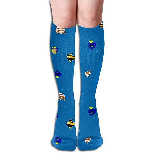 (Unisex Aquarium Colorful Tropical Fish Sports Long Casual Socks Knee High Breathable Sock)