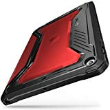 Infiland iPad 9.7 2018 2017 Case, Full-Body Shockproof Smart Tri-fold Cover with Auto Sleep Wake Compatible with iPad 9.7 5th, 6th Generation (Red)