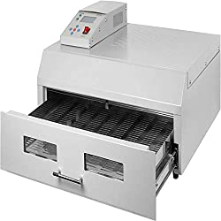 Happybuy Reflow Oven T962C 110V Reflow Soldering Machine 2800W 400 x 600 mm Professional Infrared Heater Soldering Machine Automatic Reflow Machine (T962C 110V)
