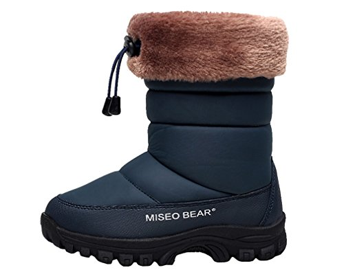 Boot Casual Thickened Boys Girls Outdoor Boot Anti Deep Cotton Snow Blue Boot Pointss Warm Middle Hiking Waterproof Style Slip nx17FqP