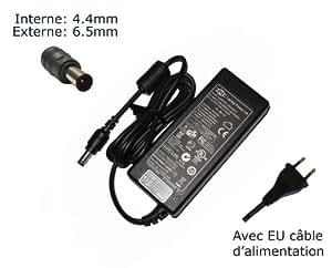 Lavolta-Adaptador de corriente alterna para Sony Vaio VGN-N VGN-NR VGN-NS VGN-NW VGN-S3 VGN-S4 VGN-S5 VGN-sr-Power-Ordenador portátil (TM) de marca () con enchufe europeo