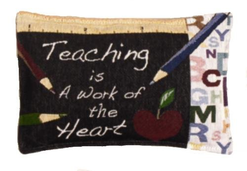 Simply Home Teacher Work of The Heart Tapestry Toss Pillow USA Made SKU: P80-951