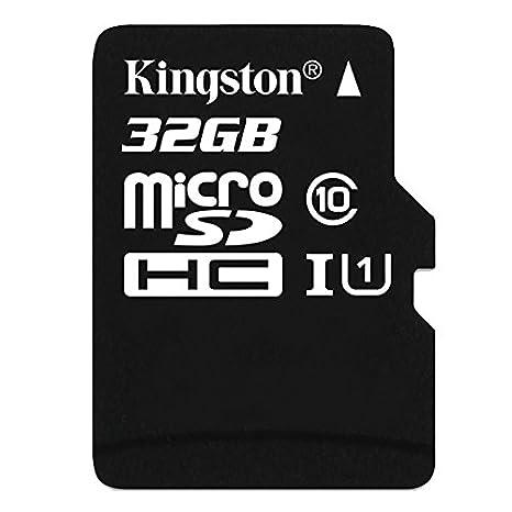 Carte Black Minimum.Kingston Sdc10 32gbsp Carte Micro Sdhc Sdxc Classe 10 Uhs I De 32go Vitesse Minimum De 10mb S Carte Seule