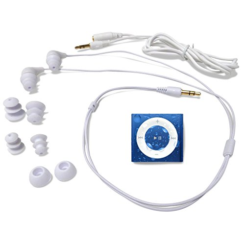 Underwater Audio Swimbuds Waterproof iPod Bundle (Royal Blue)