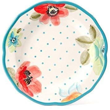 Colorful Floral Design with Turquoise Accents Dinnerware Set, 12-Piece by The Pioneer Woman (Image #3)
