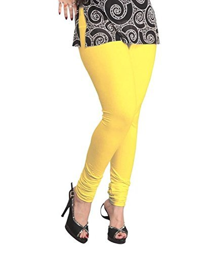 Lux Lyra Women's Indian Churidar Leggings   Lemon