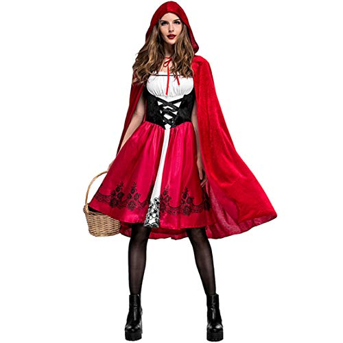 KELOVE Women Sexy Little Red Riding Hood Halloween Costume