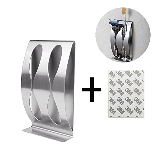 Stainless Toothbrush Mounted Adhesive Clover