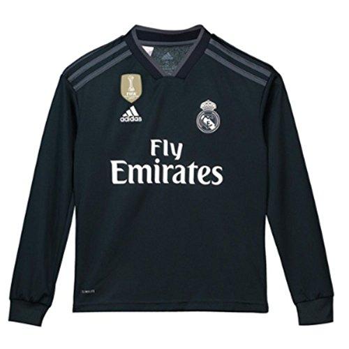 - adidas 2018-2019 Real Madrid Away Long Sleeve Football Soccer T-Shirt Jersey (Kids)