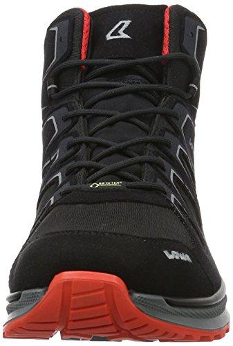 Lowa Innox Evo Gtx Qc, Zapatos de Low Rise Senderismo para Hombre Negro (schwarz/rot)