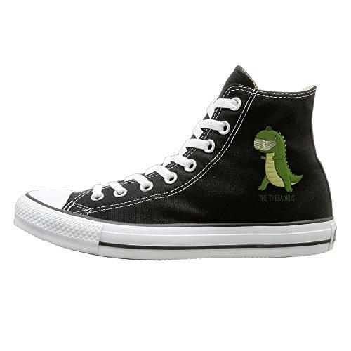 Hilo Canvas Shoes The Thesaurus Dinosaur Hi-Top Unisex Canvas Sneaker- Season Lace Ups Shoes Casual Trainers Men And Women 43