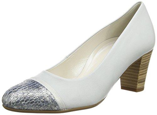 Gabor Deal - Tacones Mujer Plateado - Silver (Dull Silver Leather/Dark Blue Vipera Glitter)