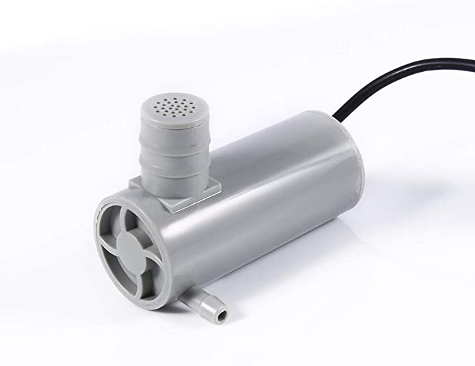 12V DC Submersible Water Pump Hmax 9 M 500 L//h Flow for Garden Pond Land Watering Washing DeWin 12V DC Submersible Water Pump Color : Gray