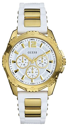 GUESS Women's W0325L2 Watch With White Silicone Band