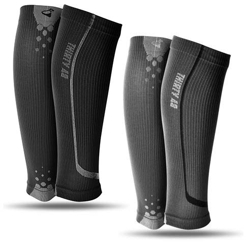 Graduated Calf Compression Sleeves by Thirty48 | 15-20 OR 20-30 mmHg | Maximize Faster Recovery by Increasing Oxygen to -