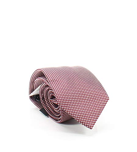 Sean John Men's One Micro Brick Texture Silk Neck Tie Red Not Applicable