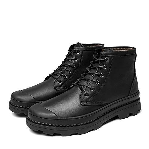 shoes Pour Bottes Noir La Imperméable Hommes À Bottines Décontracté L'usure Haut Doublées Mode Durable; color Option Gamme Noir 39 conventionnel Eu Supporter En Molleton Bnd De Taille dF0Xqd